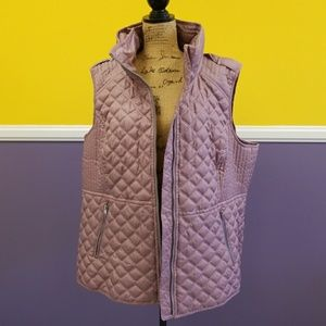 Marc New York pink quilted vest NWT 2X